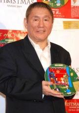 北野武がクリスマスイベント『アート オブ クリスマス Namiki』の企画でイヤーズプレートを制作 (C)ORICON DD inc.