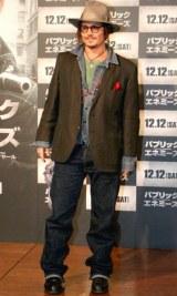 主演映画『パブリック・エネミーズ』プロモーションのため約2年ぶりに来日し、会見を行ったジョニー・デップ (C)ORICON DD inc.