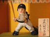その年に起きた印象的な出来事を募集し反映する2009年の『変わり雛』がお披露目、特別に制作された『おめでとうゴジラ 日本人初MVP雛』 (C)ORICON DD inc.