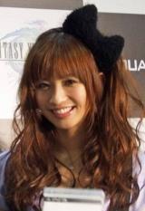 『FINAL FANTASY XIII』発売カウントダウンイベントに登場した優木まおみ (C)ORICON DD inc.