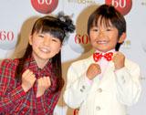 『こども紅白歌合戦』で司会を務める(左から)大橋のぞみ、加藤清史郎