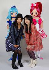 アニメ『ハートキャッチプリキュア!』で声優を務める(左から)水沢史絵と水樹奈々(c)ABC・東映アニメーション