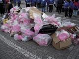 この日全チームによって集められたゴミは314kgにもなった
