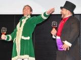 """住友不動産リフォームのイメージキャラクターに就任した髭男爵が""""リフォーム""""? タレントのトロイ・プレスリーを""""新ひぐちくん""""(左)相方として発表した山田ルイ53世 (C)ORICON DD inc."""