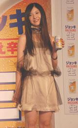 サントリー『ジョッキ のみごたえ辛口<生>』の新CM発表会に出席した吉高由里子 (C)ORICON DD inc.
