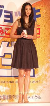 サントリー『ジョッキ のみごたえ辛口<生>』の新CM発表会に出席した相沢紗世 (C)ORICON DD inc.