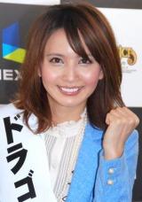 オンラインゲーム『ドラゴニカ』の記者発表会見に出席した加藤夏希 (C)ORICON DD inc.