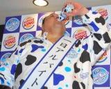 『ファンタ もぉ〜もぉ〜ホワイト』の発売記念イベントに出席した曙太郎 (C)ORICON DD inc.