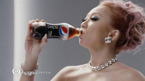 「1週間前から練習した」という見事な飲みっぷりも披露する倖田來未/『ペプシネックス』新CM