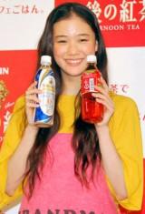 『紅茶でLet'sカフェごはん』キャンペーン発表会に出席した蒼井優 (C)ORICON DD inc.