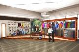 6日より衣料品も展開する『ABC MART 銀座店』のイメージ図