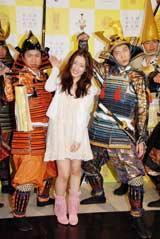 『武将都市ナゴヤキャンペーン』イベントにゲストとして出席した、AKB48・梅田彩佳とはんにゃ(C)ORICON DD inc.