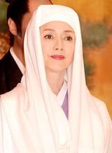 舞台『大奥』の制作発表に役衣装の着物姿で出席した多岐川裕美