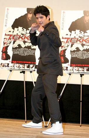 映画『TEKKEN-鉄拳-』のジャパンプレミア試写会に出席したジョン・フー (C)ORICON DD inc.
