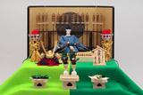 業界初となる人形が主役の毛せん二段飾り『端午飾』(写真は冷泉の皇子)