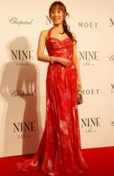 映画『NINE』の完成披露試写会のレッドカーペットイベントに参加した未唯mie (C)ORICON DD inc.