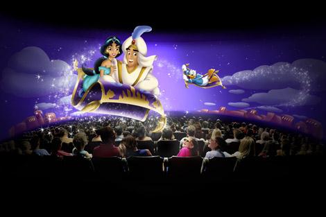 東京ディズニーランドに導入される新規アトラクション『ミッキーのフィルハーマジック』のイメージ画像(2011年冬予定) (C)Disney