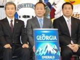『ジョージア ベースボール プロジェクト』発表会見に出席した、(左から)山田久志氏、高木豊氏、伊東勤氏 (C)ORICON DD inc.