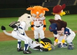 """プロ野球12球団のマスコットたちが集結した『ジョージア ベースボール プロジェクト』で""""笑いの標的""""となった阪神タイガースのトラッキー (C)ORICON DD inc."""