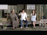 最後は3人そろって縁側でビールを酌み交わす(左から)菅原文太、江口洋介、黒谷友香/『キリンラガービール』新CM