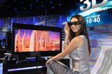昨年10月に幕張メッセで開催された最先端IT・エレクトロニクス展『シーテック2009』より(ソニーの3Dテレビのデモンストレーションの様子)