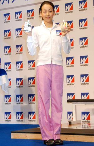 ウイダーブランドの『栄養・トレーニング』サポートプロジェクト継続記者会見に出席した浅田真央 (C)ORICON DD inc.
