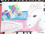 """作品展『シャガール−ロシア・アヴァンギャルドとの出会い』記者会見に応援サポーターとして出席したDAIGOが""""ロバの絵""""を披露"""