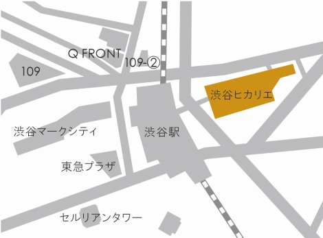 「渋谷ヒカリエ」マップ