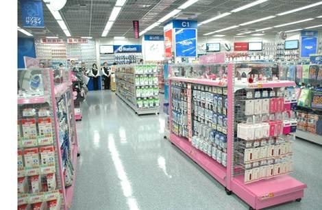 4FのPCサプライコーナーでも、女性向けデザインの商品も豊富に取り扱う (C)ORICON DD inc.