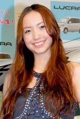 スバルの新型軽乗用車『ルクラ』の新CM発表会に出席した豊田エリー