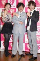 『DRIVE&LOVEプロジェクト』の記者発表会見に出席した(左から)金ヶ江悦子、塩屋俊、杉浦太陽 (C)ORICON DD inc.