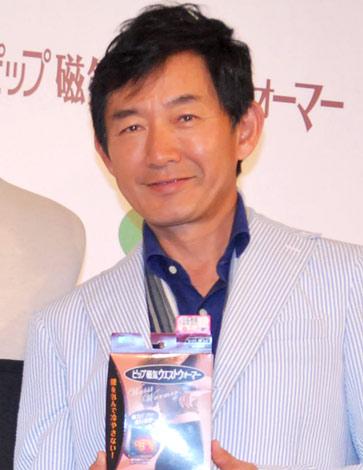 ピップ『磁気ウエストウォーマー』プレスイベントに出席した石田純一 (C)ORICON DD inc.