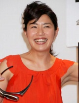 『3D挑戦!三社祭生TV』制作発表会見に出席した、司会の奥山佳恵 (C)ORICON DD inc.