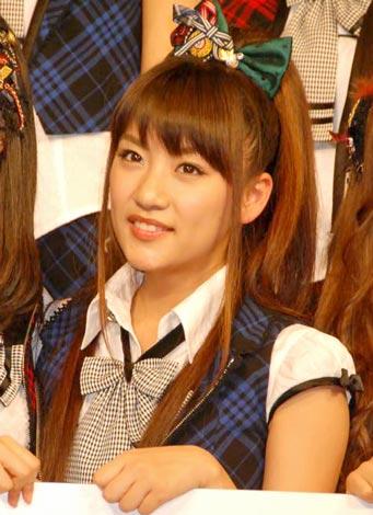 『オリコン芸能人事典』発表会見にゲスト登壇した、AKB48の高橋みなみ (C)ORICON DD inc.