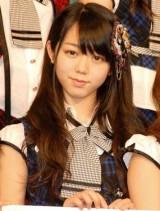『オリコン芸能人事典』発表会見にゲスト登壇した、AKB48の峯岸みなみ (C)ORICON DD inc.
