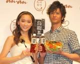 『たべカワ』プロジェクト発表会に出席した(左から)杏と速水もこみち (C)ORICON DD inc.