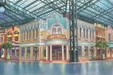 『スティッチ! 〜いたずらエイリアンの大冒険〜』で初めてアニメの舞台になる、「ワールドバザール」 (C)Disney