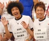 ボールペン『Surari』の発売記念発表会に出席したトータルテンボスの(左から)藤田憲右、大村朋宏 (C)ORICON DD inc.