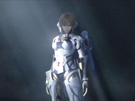 CG合成の体で見事な刀さばきを披露する渡辺麻友/Wii専用ソフト『ゼノブレイド』CM