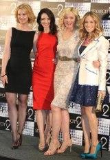 映画『セックス・アンド・ザ・シティ2』PRのため来日した(左から)シンシア・ニクソン、クリスティン・デイビス、キム・キャトラル、サラ・ジェシカ・パーカー (C)ORICON DD inc.