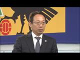 TBS『バース・デイSP』でインタビューに応じるサッカー日本代表監督の岡田武史氏