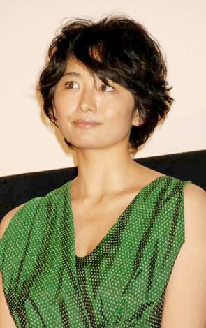 映画『シーサイドモーテル』の初日舞台あいさつを行った小島聖 (C)ORICON DD inc.