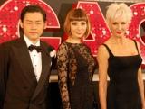出演ミュージカル『CHICAGO』の会見に出席した(左から)河村隆一、米倉涼子、アムラ=フェイ・ライト (C)ORICON DD inc.