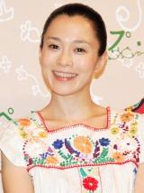 映画『スープ・オペラ』の完成披露舞台あいさつに登壇した坂井真紀 (C)ORICON DD inc.