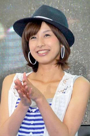 ハットをかぶる加藤綾子