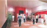 館内は3スクリーン、メイン劇場142席。車椅子スペース、エレベター、難聴者用設備などバリアフリー対応も完備