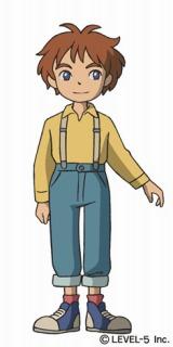 スタジオジブリが制作した『二ノ国 漆黒の魔導士』のアニメーション キャラクターのオリバー