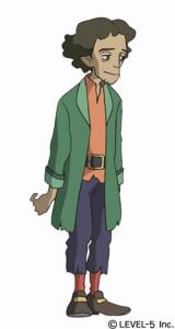 スタジオジブリが制作した『二ノ国 漆黒の魔導士』のアニメーション キャラクターのジャイロ
