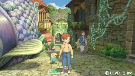 スタジオジブリがアニメーションを制作したプレイステーション3版『二ノ国 白き聖灰の女王』のゲーム画面