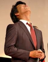 映画『踊る大捜査線 THE MOVIE3 ヤツらを解放せよ!』完成披露舞台あいさつで感極まる織田裕二 (C)ORICON DD inc.